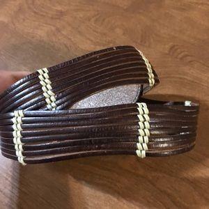 Talbots leather belt M